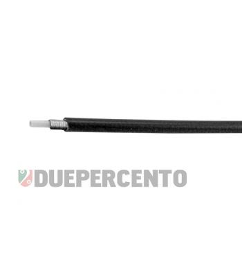 Guaina nera a metro, spirale piatta in acciaio con tubetto PVC interno, Ø 5mm
