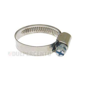 Fascetta in acciaio inox banda 9mm - diametro utilizzo 15-25mm