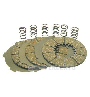 Dischi frizione per frizioni 6 molle, 3 dischi sughero, 3 infradischi, 6 molle, per Vespa 125 VN1T/ VNA2T/ 150 VL1-3T/ VB1T/  VGL1T