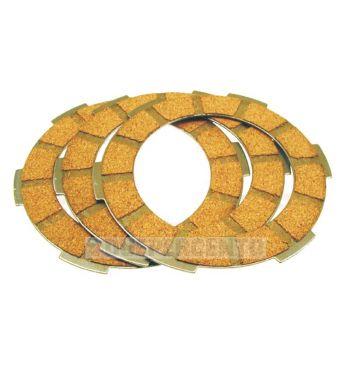 Dischi frizione per frizione monomolla, 3 dischi sughero per Vespa 50/ 50 Special/ ET3/ Primavera/ PK50-125