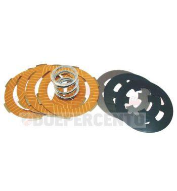 Dischi frizione RACING per frizione monomolla, 4 dischi sinterizzati, 3 infradischi, 1 molla rinforzata per Vespa 50/ 50 Special/ ET3/ Primavera/ PK50-125