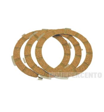 Dischi frizione CIF per frizione 6 molle, 3 dischi sughero, per Vespa PK50/ S/ SS/ XL/ XL2/ FL/ HP/ N/ Rush/ Ape