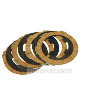 Dischi frizione CIF per frizione 6 molle, 4 dischi sughero, 3 infradischi, 6 molle per Vespa PK50/ S/ SS/ XL/ XL2/ FL/ HP/ N/ Rush/ Ape