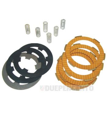 Dischi frizione CIF per frizione 6 molle, 4 dischi sinterizzati, 3 infradischi, 6 molle per Vespa PK50/ S/ SS/ XL/ XL2/ FL/ HP/ N/ Rush/ Ape