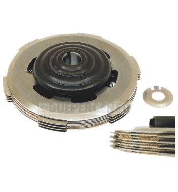 Frizione monomolla CIF, 4 dischi in sughero, 3 infradischi, 1 molla rinforzata per Vespa 50/ 50 Special/ ET3/ Primavera/ PK50-125