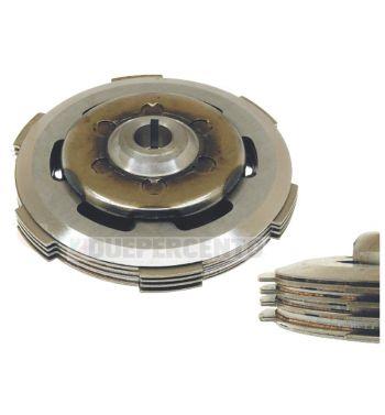 Frizione CIF, 4 dischi sughero, 3 infradischi, 6 molle rinforzate per Vespa PK50/ S/ SS/ XL/ XL2/ FL/ HP/ N/ Rush/ Ape