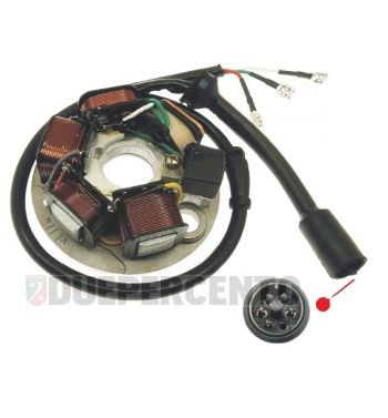 Statore 3 cavi, 1 connettore, 5 bobine con avviamento elettrico per Vespa PK50-125 S/ SS/ ETS/ APE FL/ FL2 50/ FL3
