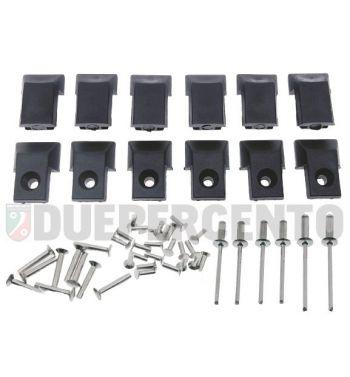 Kit puntali listelli pedana in plastica con e senza foro per Vespa P125-150X/ PX125-200E/ Lusso 1°/ P150S/ P200E