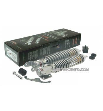 kit ammortizzatori CARBONE tuning sport grigio per Vespa PX125-200/ P200E / Arcobaleno/ `98/ MY/ `11/ T5