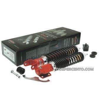 kit ammortizzatori CARBONE tuning sport rosso/nero per Vespa PX125-200/ P200E / Arcobaleno/ `98/ MY/ `11/ T5