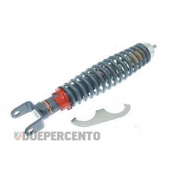 Ammortizzatore posteriore CARBONE corpo GRIGIO, registro  ROSSO per Vespa 50/ ET3/ Primavera/ PX125-200/ P200E/ COSA/ T5