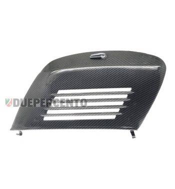 Sportello laterale carbon look per Vespa 50/ L/ R/ S / Special/ SS/ ET3/Primavera