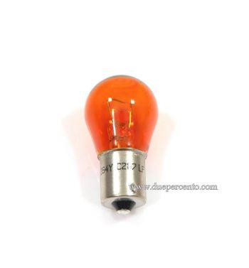 Lampadina ARANCIONE 12V 21W per frecce Vespa PX125-200 / P200E / Cosa/ T5/ PK50-125