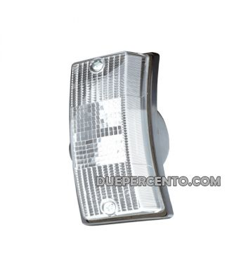 Freccia anteriore sinistra bianca SIEM per Vespa PX125-200/ P200E/ MY/ T5