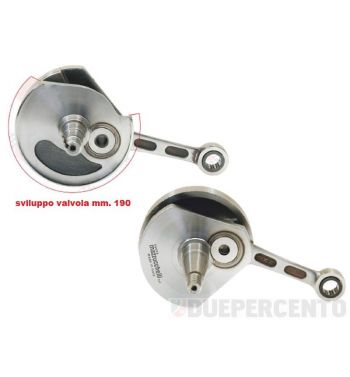 Albero motore MAZZUCCHELLI S.C. anticipato cono 19, biella 87, corsa 43, per Vespa 50/ L/ N/ R/ 50 Special