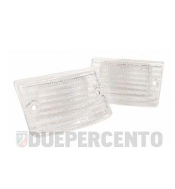 Kit vetri frecce anteriori bianchi per Vespa PK 50-125 S/ SS/ Lusso/ Automatica