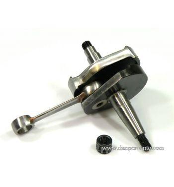 Albero motore MAZZUCCHELLI anticipato cono 19, biella 87, corsa 43, per Vespa 50/ L/ N/ R/ 50 Special