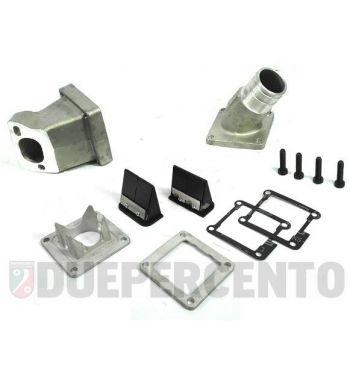 Collettore aspirazione lamellare al carter 2-3 fori VMC Ø28-30 con pacco doppia cuspide per Vespa 50/ 50 Special/ ET3/ Primavera/ PK50-125
