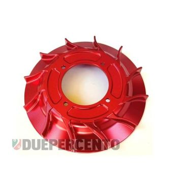 Ventola in alluminio racing, cnc rosso anodizzato per accensione VMC
