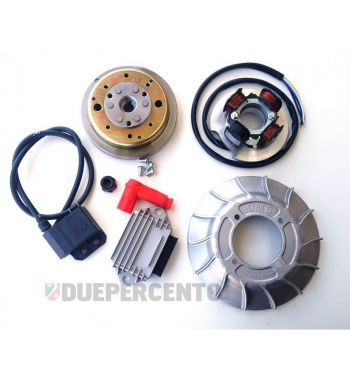 Accensione elettronica VMC EVO cono 19mm, ventola in alluminio, 1,47Kg per Vespa 50/ 50 Special/ ET3/ Primavera/ PK50-125