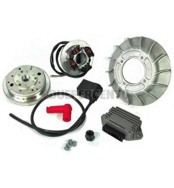 Accensione elettronica VMC EVO cono 19mm, ventola in alluminio 14 alette, 1,47Kg per Vespa 50/ 50 Special/ ET3/ Primavera/ PK50-125