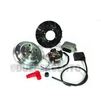 Accensione elettronica VMC volano integrale, 2,28Kg, ventola CNC racing nera per Vespa PX125-200/ P200E/ RALLY 2°/ COSA/ LML/ LUSSO