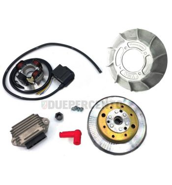 Accensione elettronica VMC 2,2Kg, ventola in alluminio 10 alette per Vespa PX125-200/ P200E/ RALLY 2°/ COSA/ LML/ LUSSO