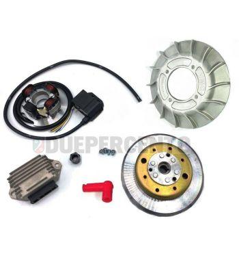 Accensione elettronica VMC 2,2Kg, ventola in alluminio 14 alette per Vespa PX125-200/ P200E/ RALLY 2°/ COSA/ LML/ LUSSO