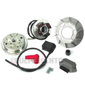 Accensione elettronica VMC EVO cono 19mm, ventola in alluminio 10 alette, 1,47Kg per Vespa 50/ 50 Special/ ET3/ Primavera/ PK50-125