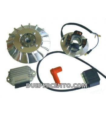 """Accensione elettronica VMC cono 20mm, 1,2Kg, ventola CNC """"strada"""" per Vespa PX125-200/ P200E/ RALLY 2°/ COSA/ LML/ LUSSO"""