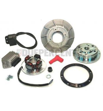 Accensione elettronica VMC, 1.65 Kg, volano integrale, ventola alluminio 10 alette, per Vespa PX125-200/ P200E/ Lusso/ Cosa/ 125 GTR/ TS/ 150 Sprint Veloce/ 200 Rally