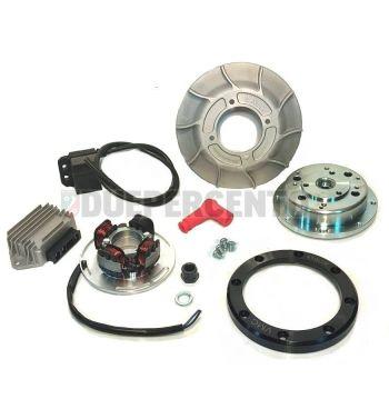 Accensione elettronica VMC, 1.85 Kg, volano integrale, ventola alluminio 10 alette, per Vespa PX125-200/ P200E/ Lusso/ Cosa/ 125 GTR/ TS/ 150 Sprint Veloce/ 200 Rally