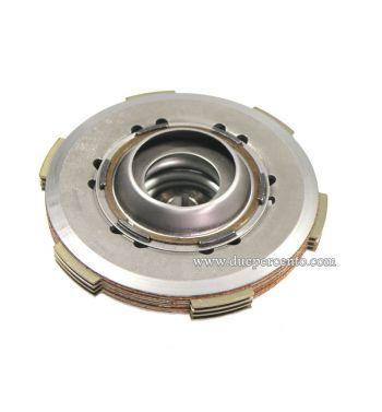 Frizione NEWFREN monomolla, 4 dischi in sughero. 3 infradischi, 1 molla rinforzata per Vespa 50/ 50 Special/ ET3/ Primavera/ PK50-125