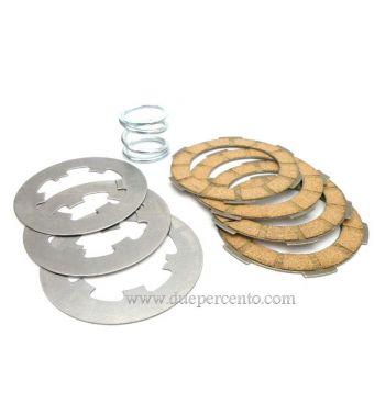 Dischi frizione MALOSSI MHR per frizione monomolla, 4 dischi sughero, 3 infradischi, 1 molla per Vespa 50/ 50 Special/ ET3/ Primavera/ PK50-125