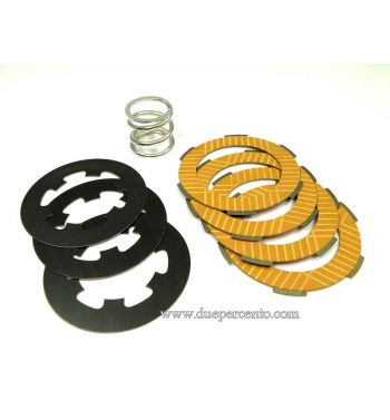 Dischi frizione NEWFREN RACE per frizione monomolla, 4 dischi sinterizzati, 3 infradischi, 1 molla rinforzata per Vespa 50/ 50 Special/ ET3/ Primavera/ PK50-125