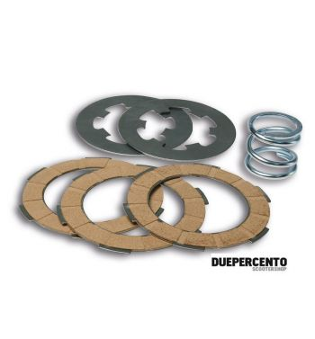 Dischi frizione MALOSSI MHR per frizione monomolla, 3 dischi sughero, 2 infradischi, 1 molla rinforzata per Vespa 50/ 50 Special/ ET3/ Primavera/ PK50-125