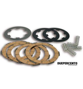 Dischi frizione MALOSSI MHR per frizione 6 molle, 4 dischi sughero, 3 infradischi, 6 molle rinforzate per Vespa PK50/ S/ SS/ XL/ XL2/ FL/ HP/ N/ Rush/Ape