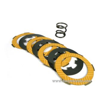Dischi frizione POLINI RACE per frizione monomolla, 4 dischi sinterizzati, 3 infradischi per Vespa 50/ 50 Special/ ET3/ Primavera/ PK50-125
