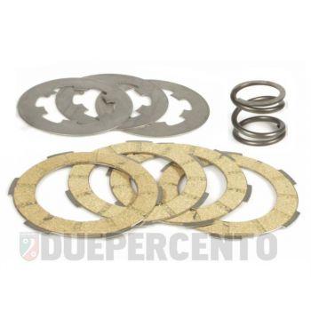 Dischi frizione POLINI RACE per frizione monomolla, 4 dischi in sughero, 3 infradischi per Vespa 50/ 50 Special/ ET3/ Primavera/ PK50-125