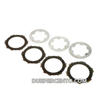 Dischi frizione FABBRI RACING per frizioni 8 molle, 4 dischi sinterizzati carbonio, 3 infradischi per Vespa 50/ 50 Special/ ET3/ Primavera/ PK50-125/ HP/ Ape