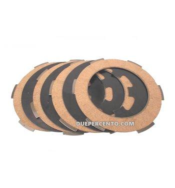 Dischi frizione PINASCO per frizione monomolla, 4 dischi sughero, 3 infradischi per Vespa 50/ 50 Special/ ET3/ Primavera/ PK50-125