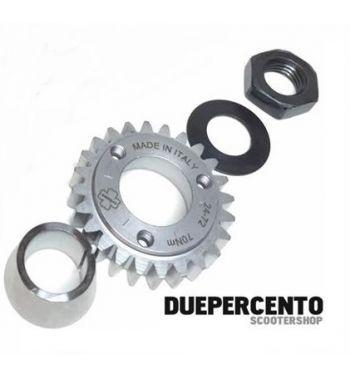 Kit pignone + cono blocca pignone CRIMAZ z=25 per rapporti 27-69 denti dritti per Vespa 50/ 50 Special/ ET3/ Primavera/ PK50-125/ S/ XL/ XL2/ ETS