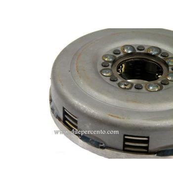 Frizione rinforzata NEWFREN, 8 molle, z21 denti, 4 dischi sughero, 3 infradischi per Vespa PX125-200 / P200E / 180-200 Rally/ Cosa/ Sprint / 125 GT / GTR / T5