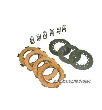 Dischi frizione NEWFREN per frizione 6 molle, 4 dischi sughero, 3 infradischi, 6 molle rinforzate per Vespa PX125-150/ GTR/ TS/ Sprint/ GL/ VNB/ VBA/ LML125-150
