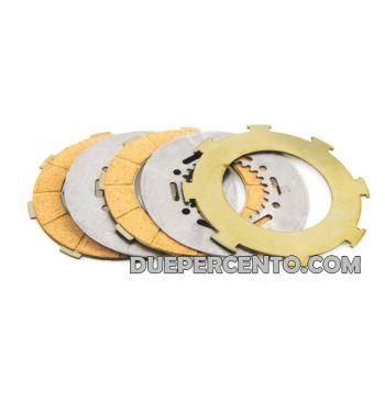 Dischi frizione PINASCO per frizione 7 molle, 3 dischi sughero, 2 infradischi, per Vespa PX200/ P200E/ Lusso/ Cosa200/ LML/Rally200/ 160GS/ 180SS