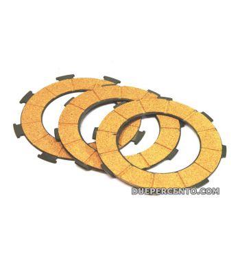 Dischi frizione NEWFREN per frizione 7 molle, 3 dischi sughero, per Vespa PX200/ P200E/ Lusso/ Cosa200/ LML/Rally200/ 160GS/ 180SS