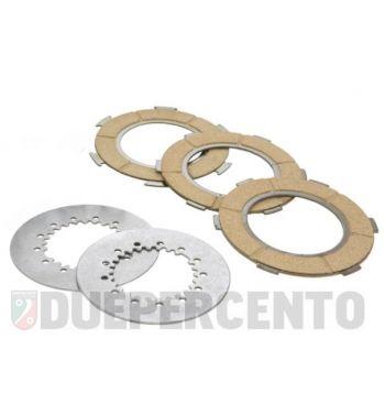 Dischi frizione NEWFREN per frizione 7 molle, 3 dischi sughero, 2 infradischi per Vespa PX200/ P200E/ Lusso/ Cosa200/ LML/Rally200/ 160GS/ 180SS