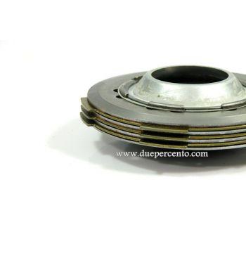 Frizione NEWFREN monomolla, 3 dischi in sughero, 2 infradischi, 1 molla per Vespa 50/ 50 Special/ ET3/ Primavera/ PK50-125