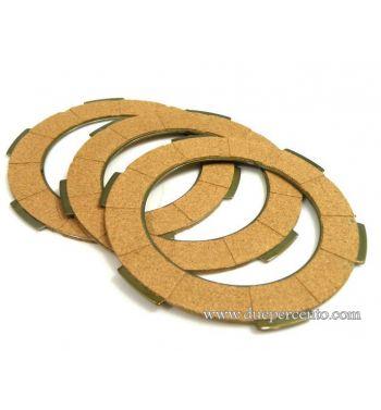 Dischi frizione NEWFREN per frizione monomolla, 3 dischi sughero per Vespa 50/ 50 Special/ ET3/ Primavera/ PK50-125