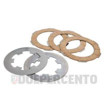 Dischi frizione NEWFREN per frizione monomolla, 3 dischi sughero, 2 infradischi per Vespa 50/ 50 Special/ ET3/ Primavera/ PK50-125